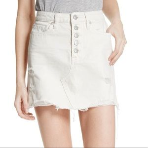 FREE PEOPLE Cotton Ripped Denim Skirt | New w Tags